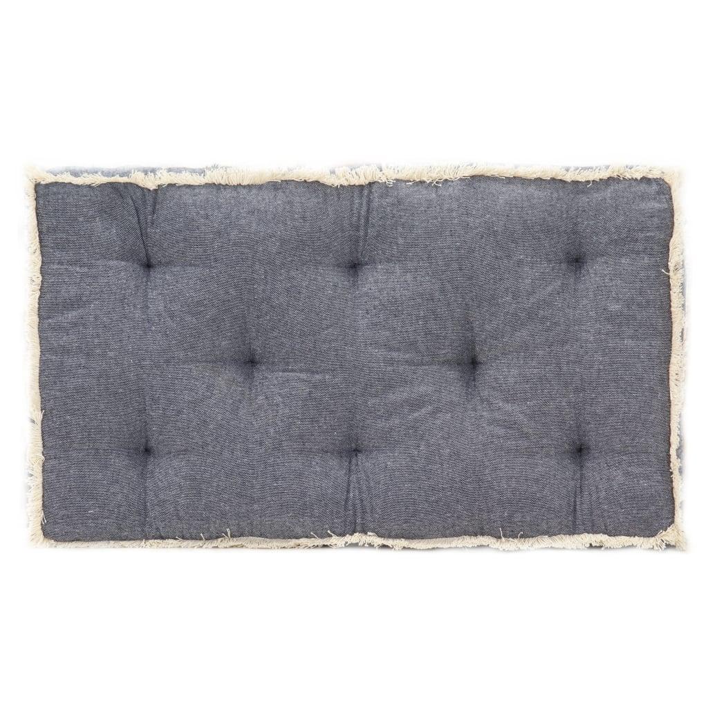 Poduška na pohovku z palet modrá 73 x 40 x 7 cm
