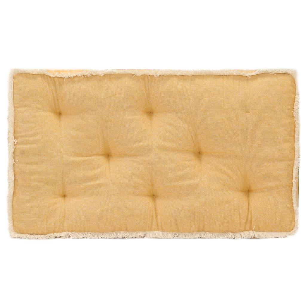 Poduška na pohovku z palet žlutá 73 x 40 x 7 cm