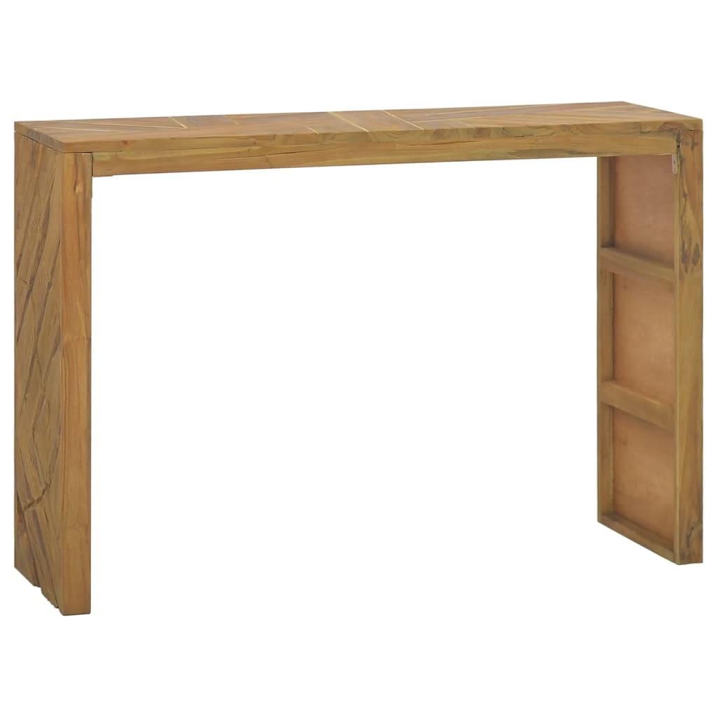 vidaXL Konzolni stol 110 x 35 x 75 cm od masivne tikovine