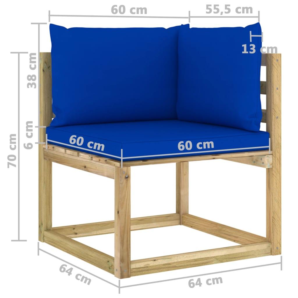 vidaXL 8-delige Loungeset met kussens geïmpregneerd grenenhout