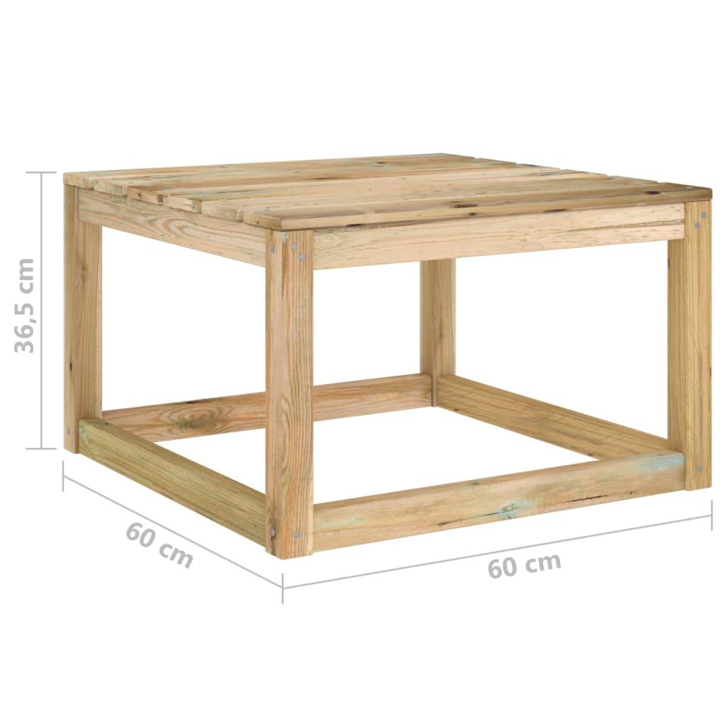 vidaXL 6-delige Loungeset met kussens geïmpregneerd grenenhout