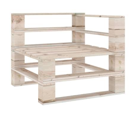 vidaXL Tuinhoekbank pallet geïmpregneerd grenenhout
