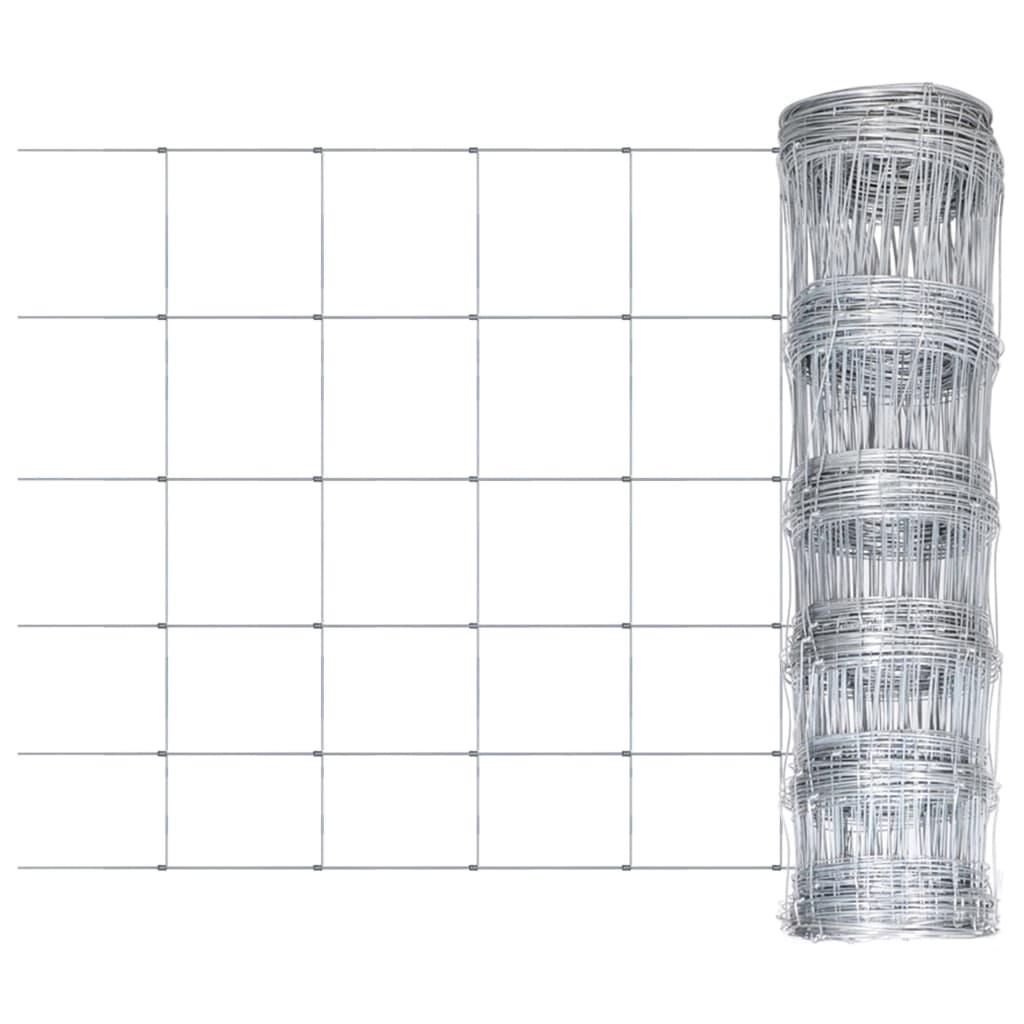 Zahradní plot pozinkovaná ocel stříbrný 50 x 0,8 m