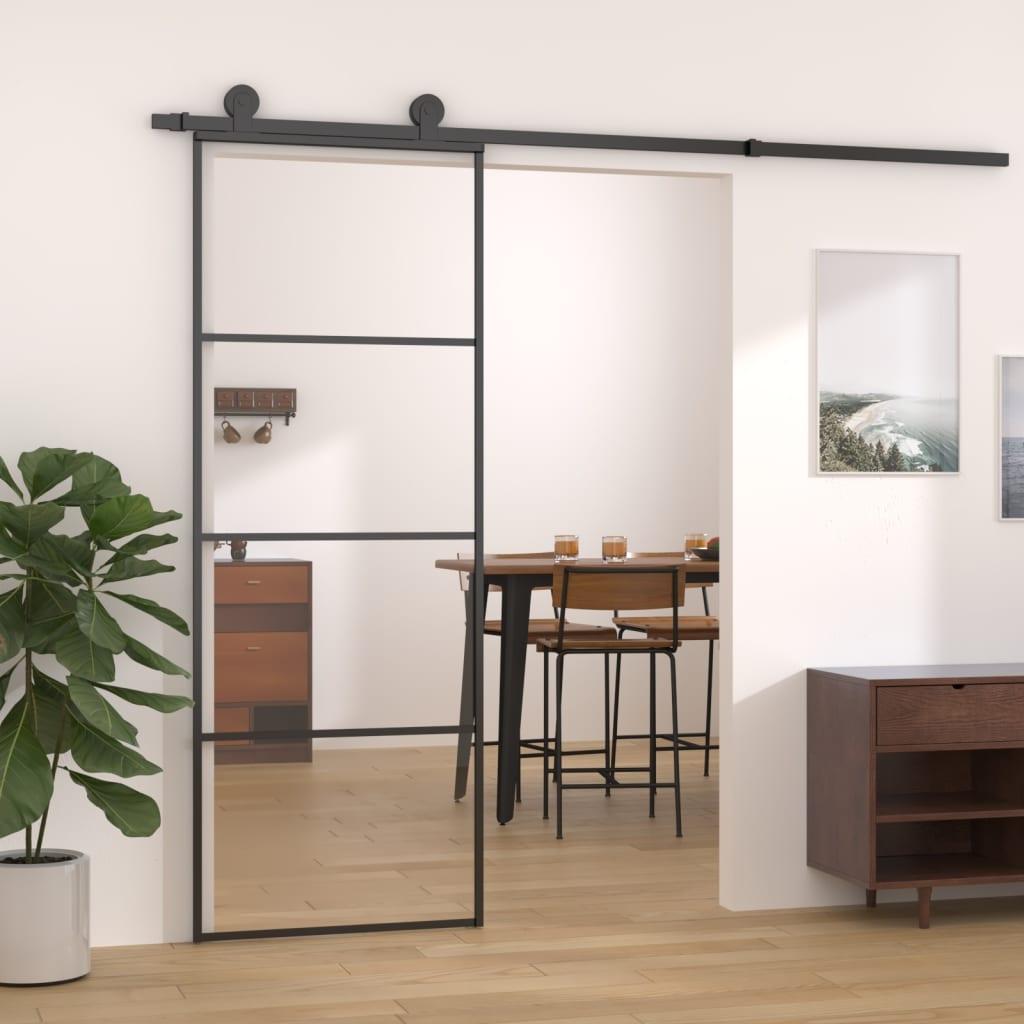 Liuguks, alumiinium ja ESG-klaas, 76 x 205 cm, mu..