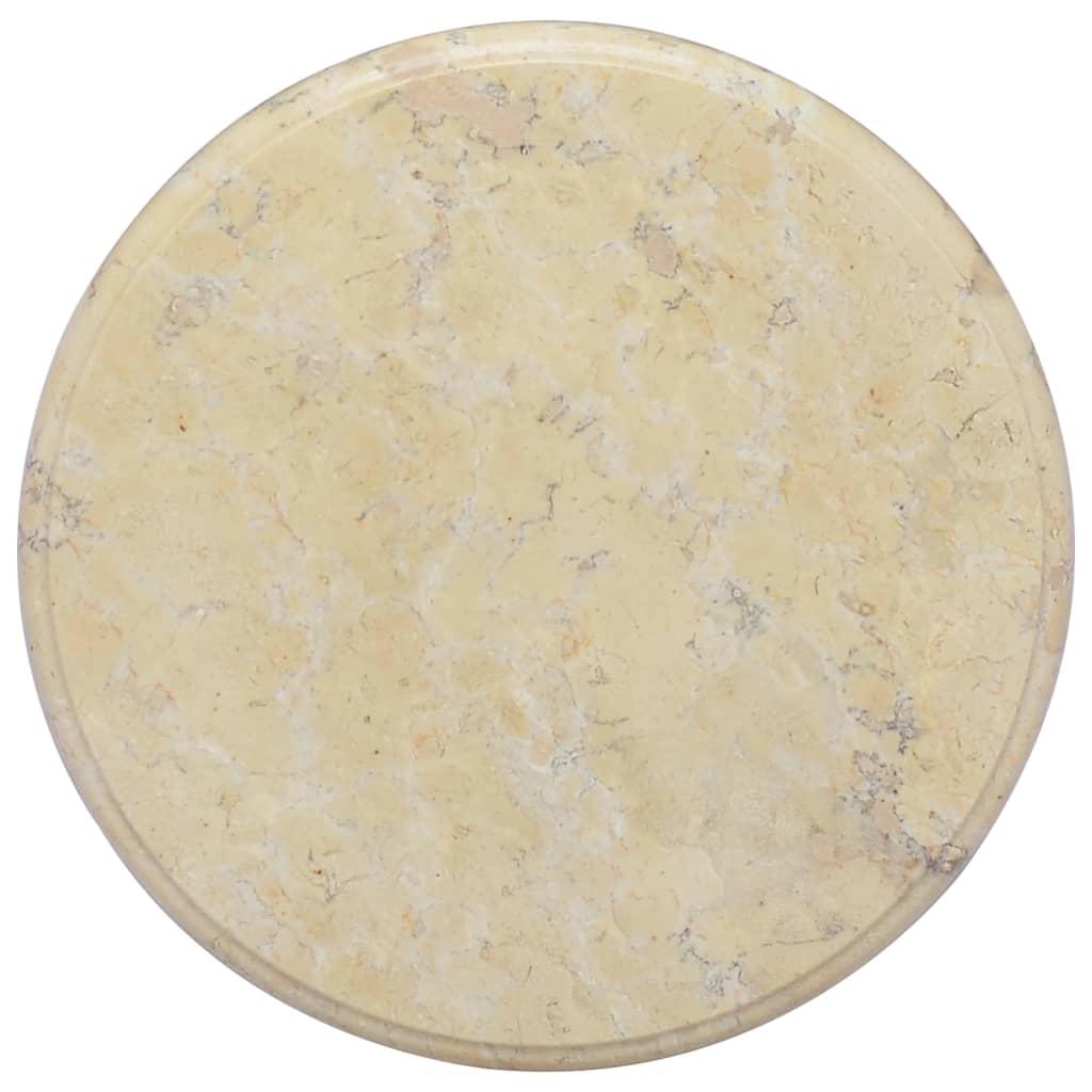 vidaXL Stolní deska krémová Ø 40 x 2,5 cm mramor
