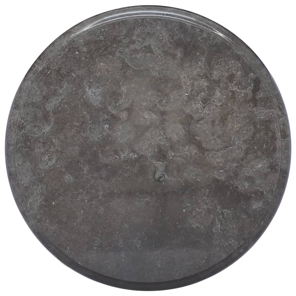 vidaXL Stolní deska černá Ø 40 x 2,5 cm mramor