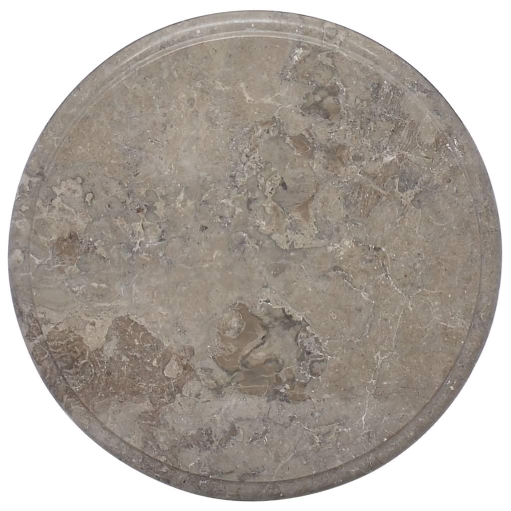 vidaXL Stolní deska šedá Ø 40 x 2,5 cm mramor