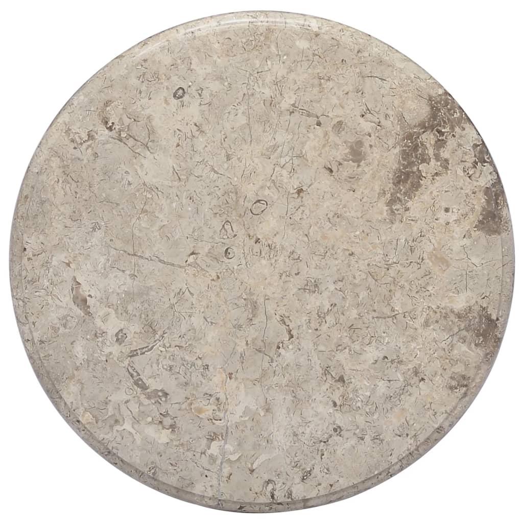 vidaXL Tischplatte Grau Ø50×2,5 cm Marmor