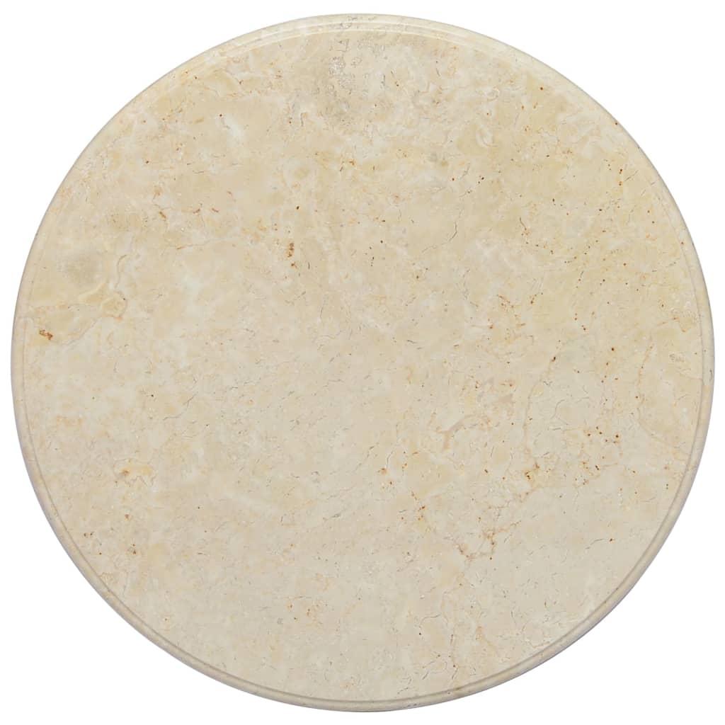 vidaXL Tischplatte Creme Ø60×2,5 cm Marmor