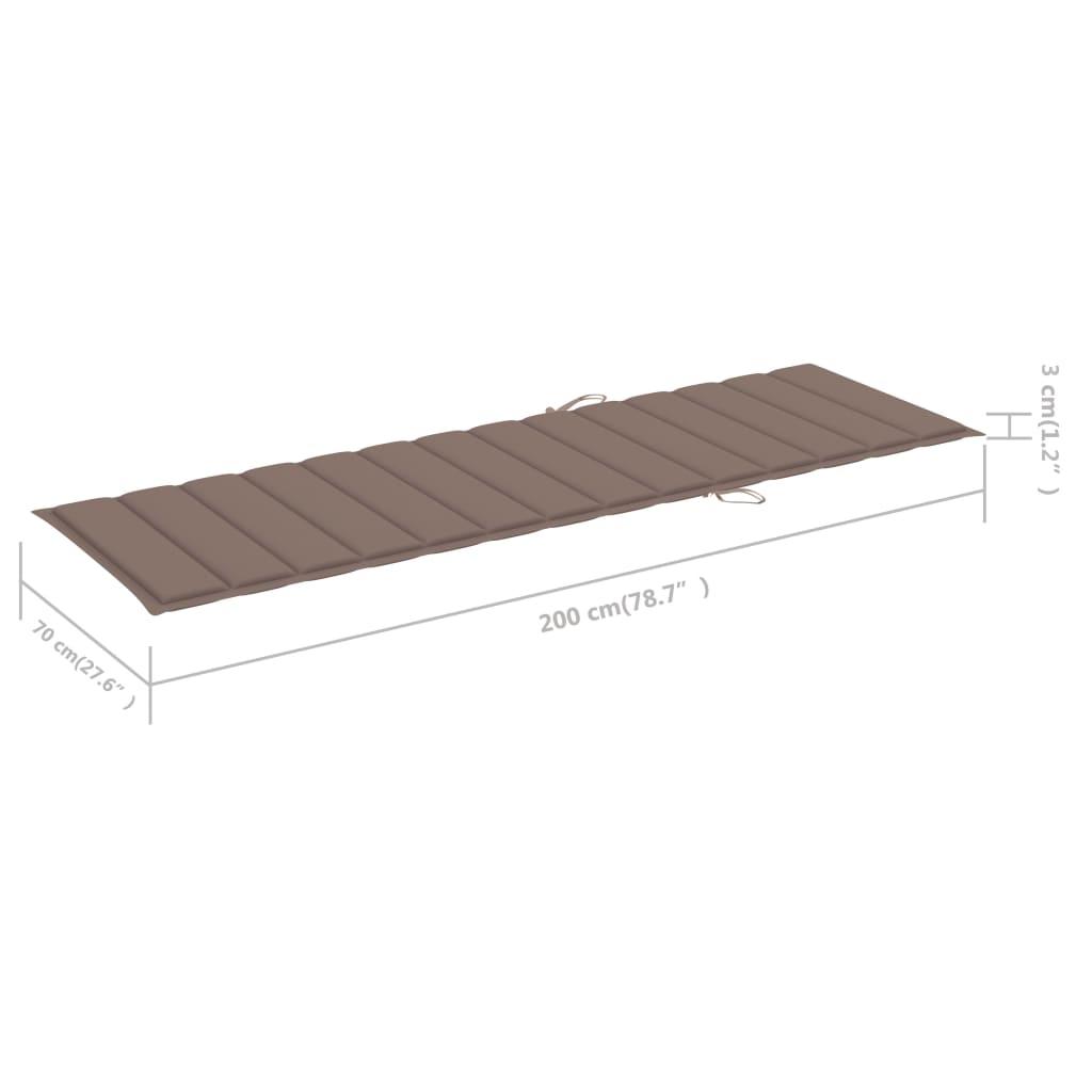 Ligbed met taupe kussen geïmpregneerd grenenhout
