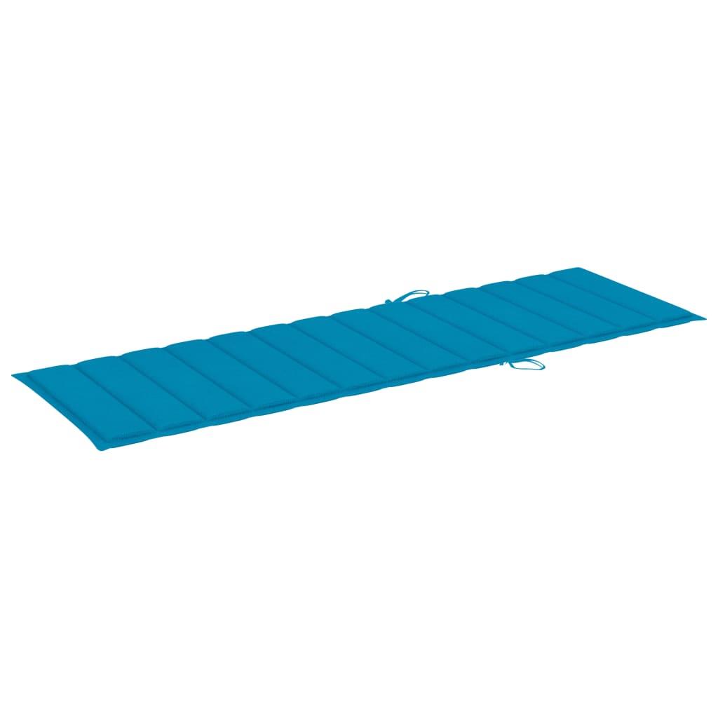 Ligbed tweepersoons met blauwe kussens geïmpregneerd grenenhout