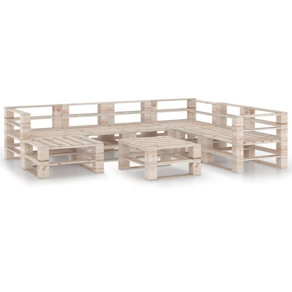 vidaXL Set mobilier grădină din paleți, 8 piese, lemn de pin vidaxl.ro