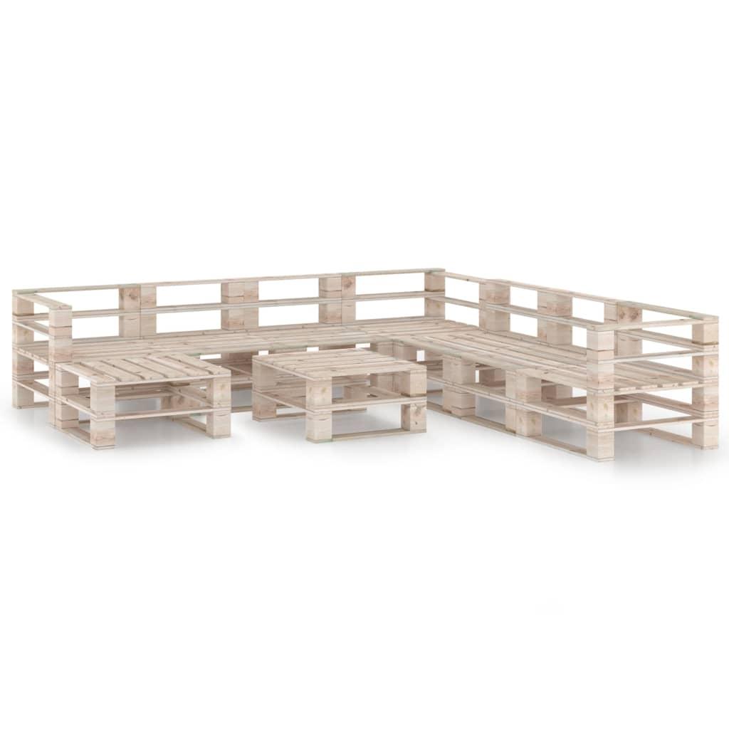 vidaXL Set mobilier grădină din paleți, 9 piese, lemn de pin poza 2021 vidaXL