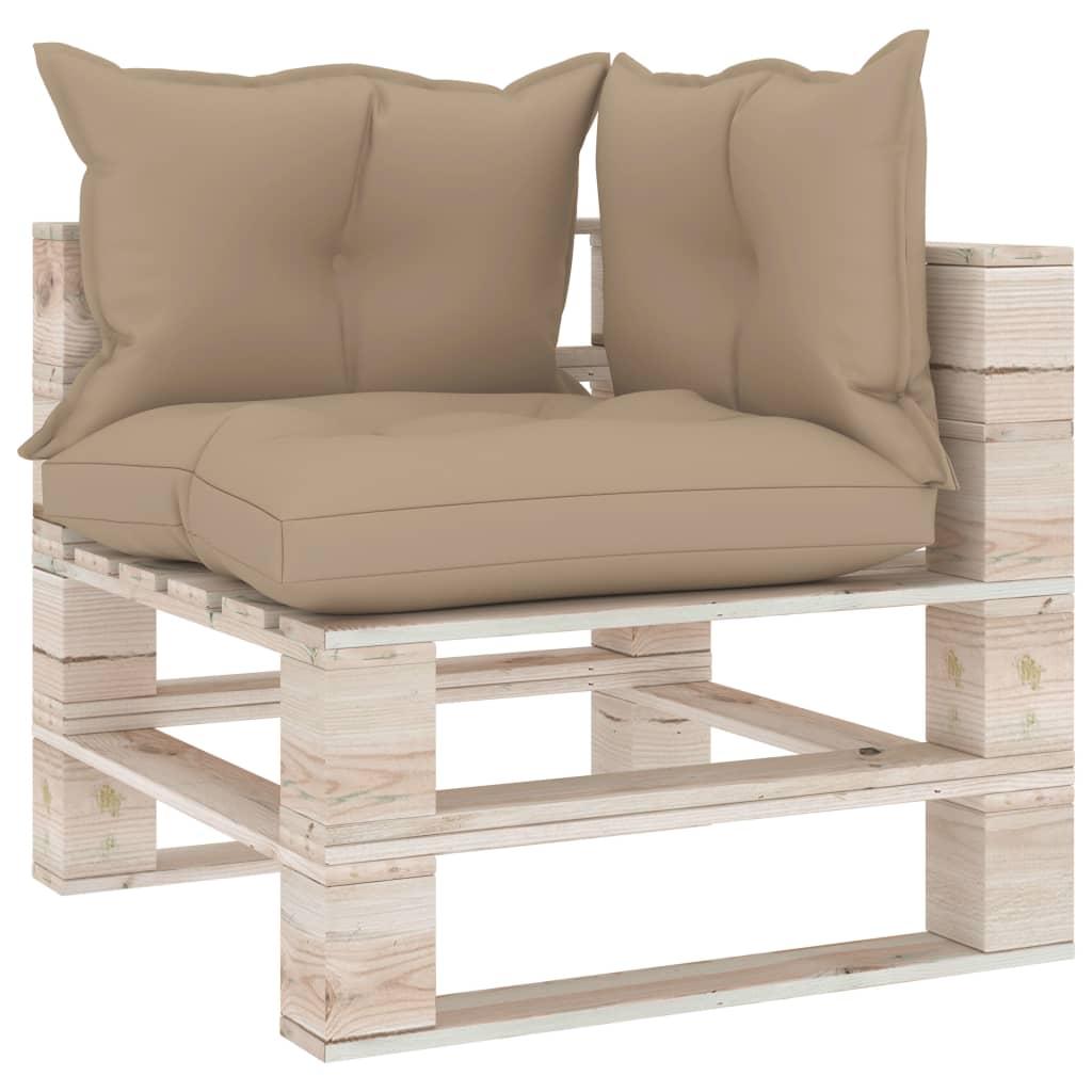 vidaXL Canapea de grădină din paleți, colțar, cu perne, lemn de pin imagine vidaxl.ro