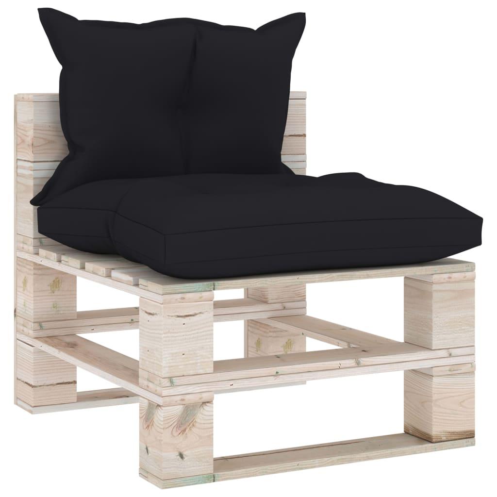 vidaXL 7-delige Loungeset met kussens pallet grenenhout