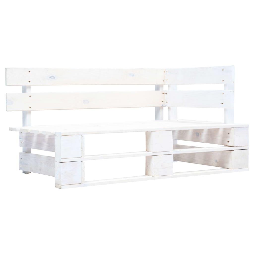 Tuinhoekbank pallet wit geïmpregneerd grenenhout