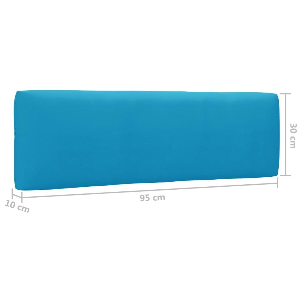 vidaXL 6-delige Loungeset pallet met kussens groen geïmpregneerd hout