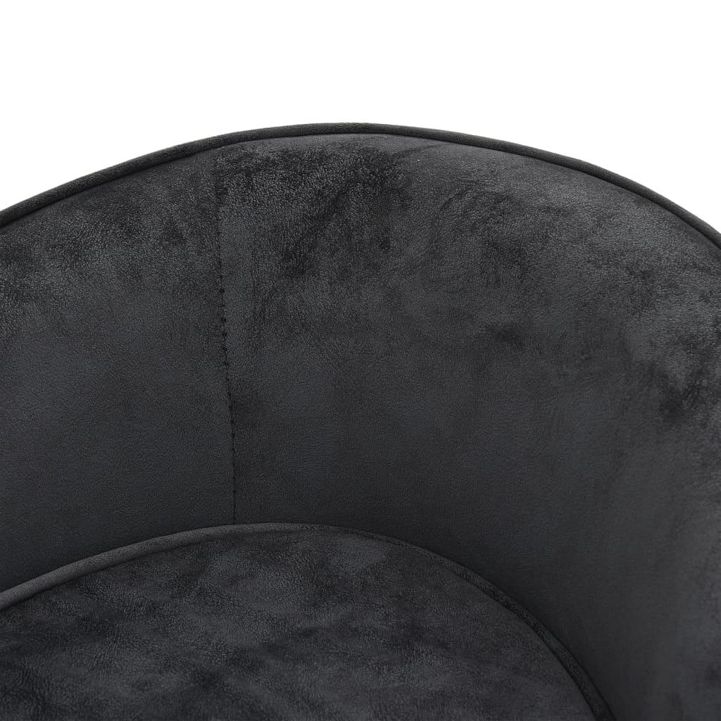 Hondenbank 69x49x40 cm pluche donkergrijs