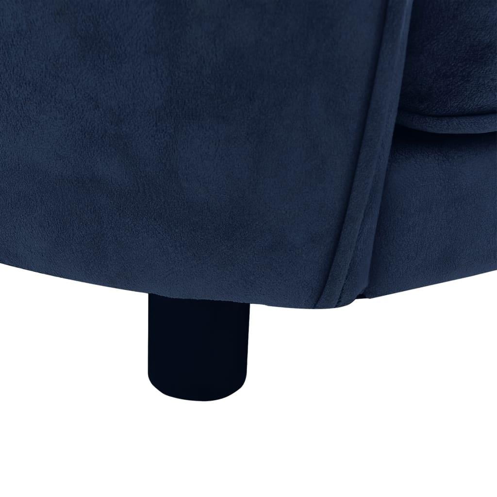 Hondenbank 69x49x40 cm pluche blauw