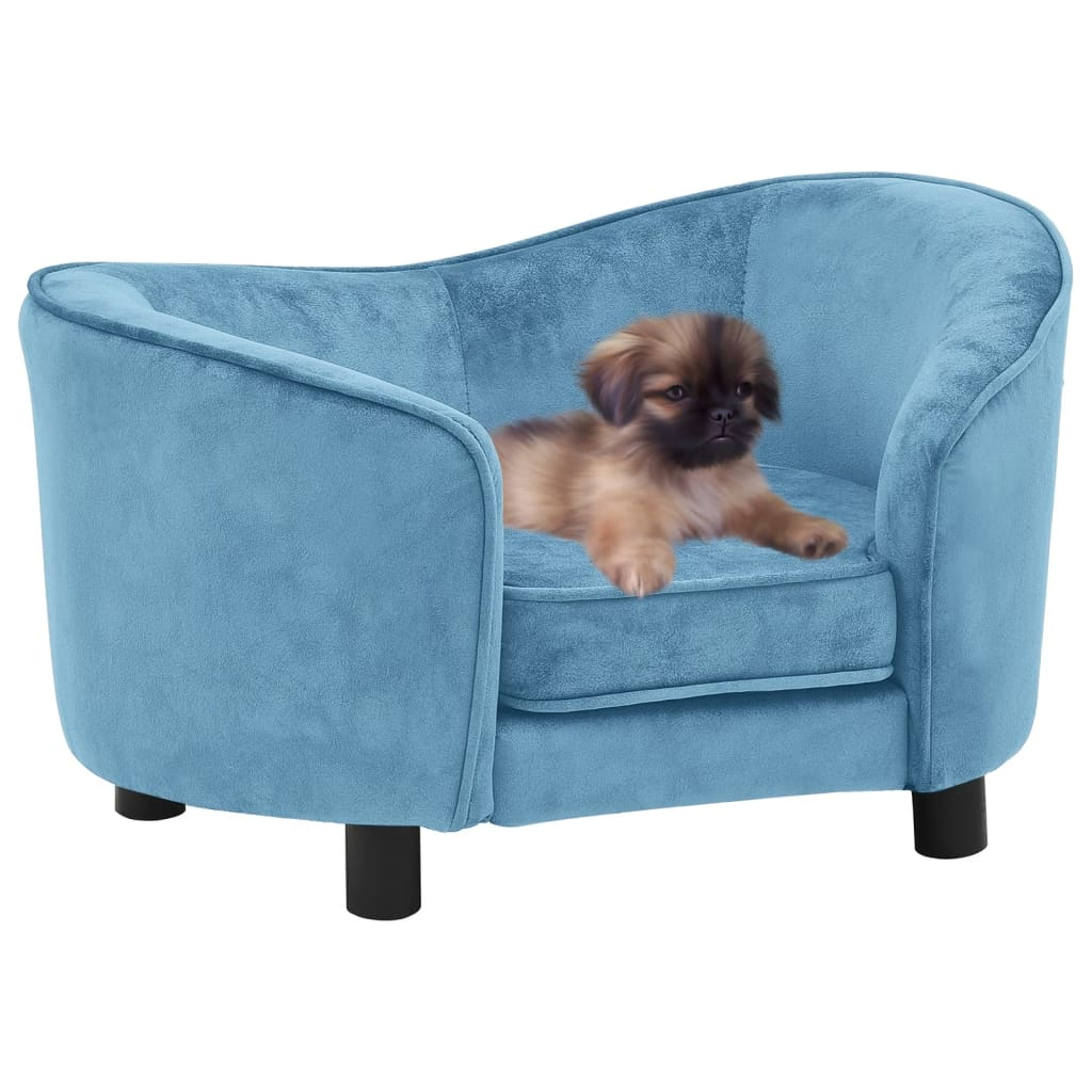 Hondenbank 69x49x40 cm pluche turquoise