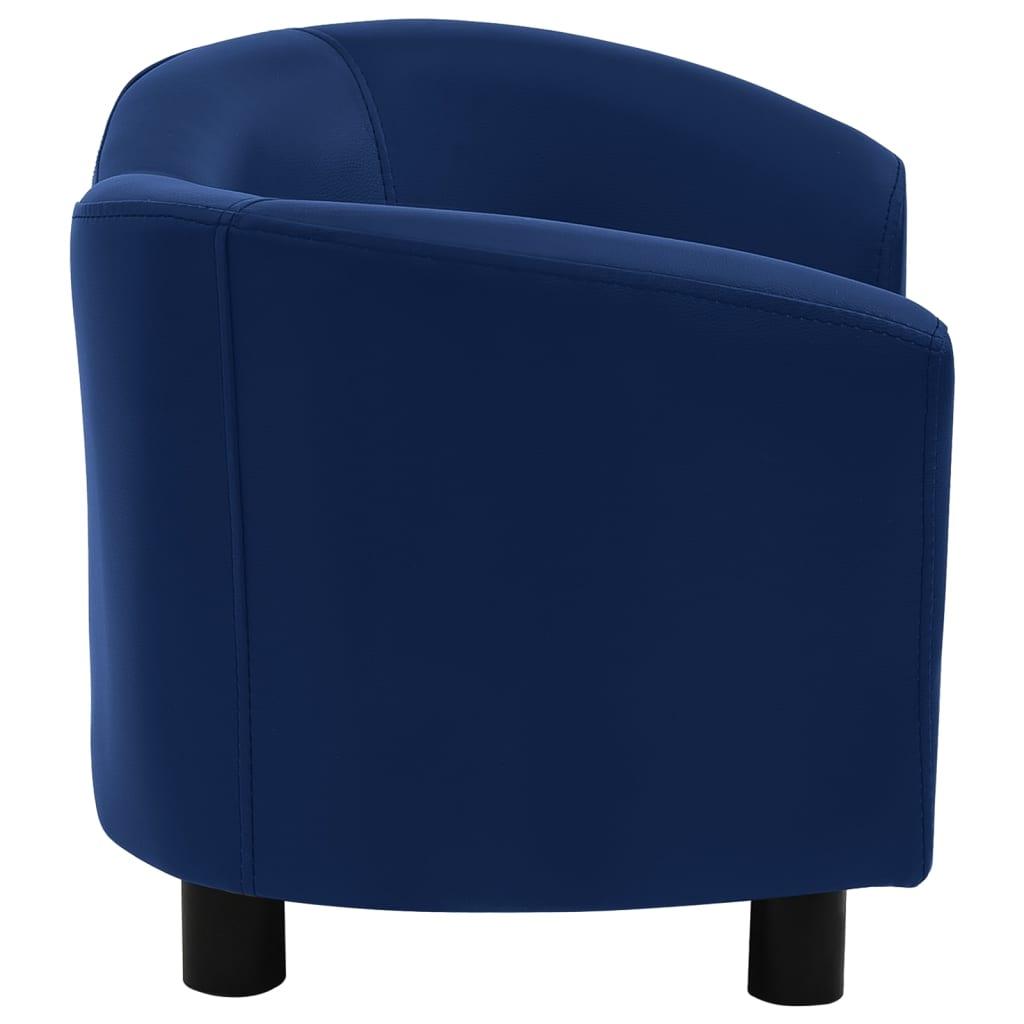 Hondenbank 67x41x39 cm kunstleer blauw