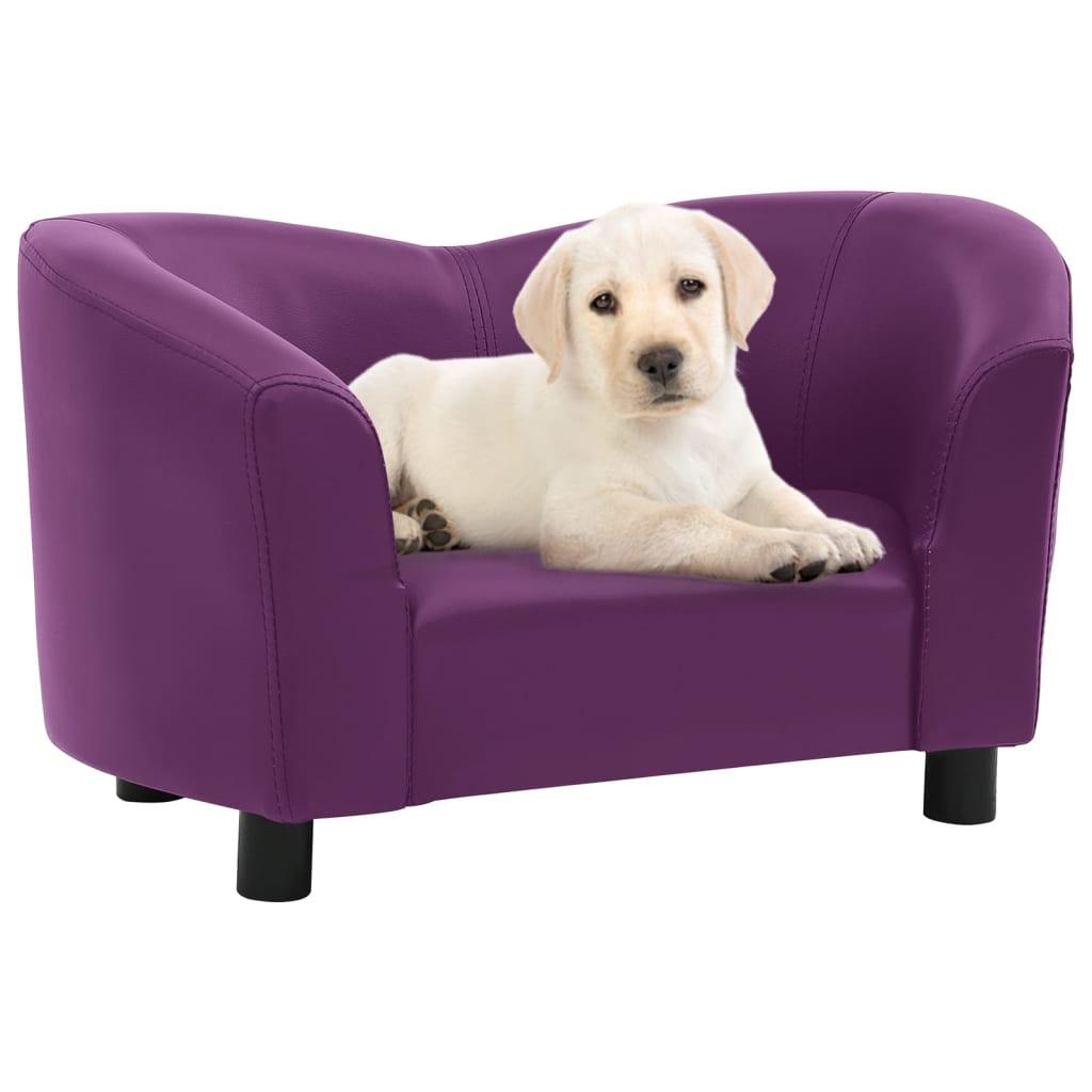 Hondenbank 67x41x39 cm kunstleer bordeauxrood