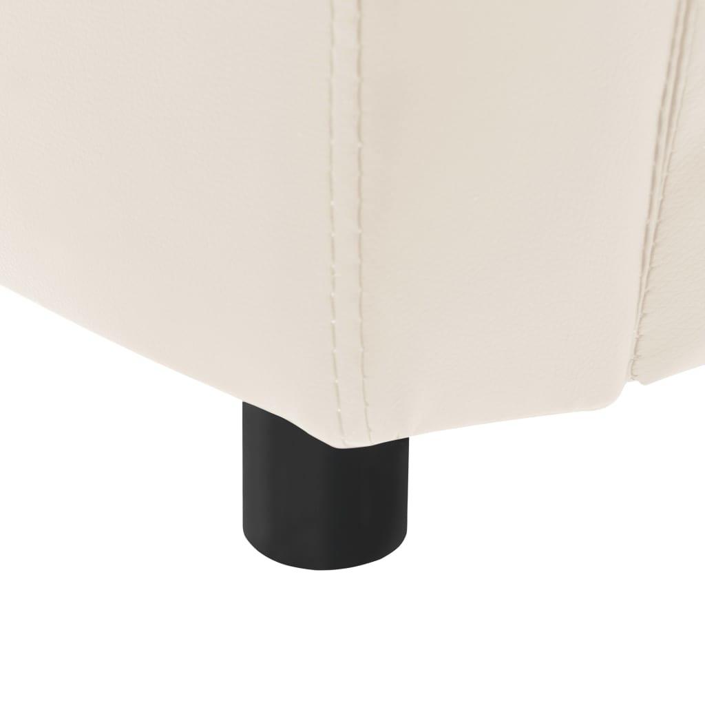 Hondenbank 67x41x39 cm kunstleer crèmekleurig