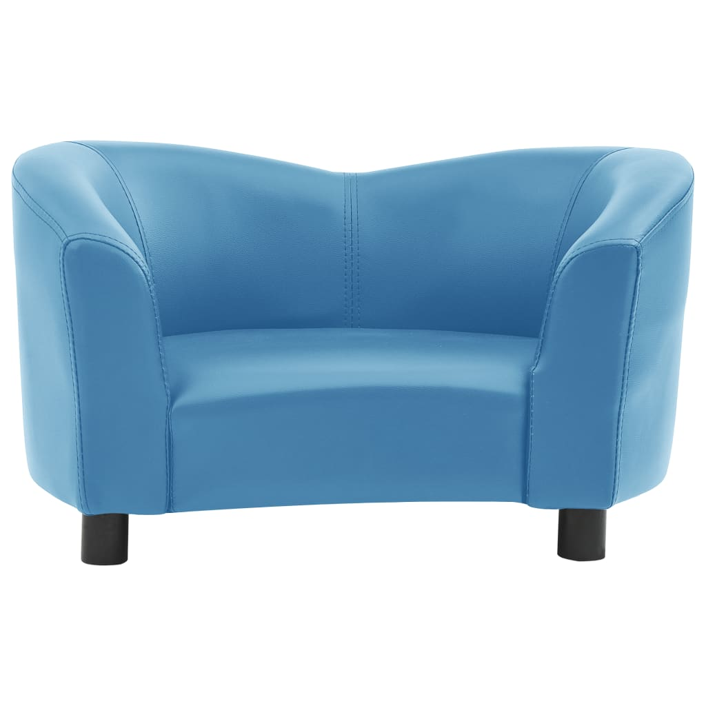 Hondenbank 67x41x39 cm kunstleer turquoise
