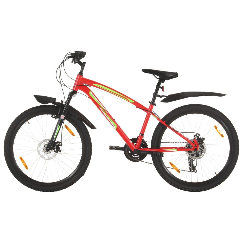 """Brdski bicikl 21 brzina kotači od 26 """" okvir od 36 cm crveni"""
