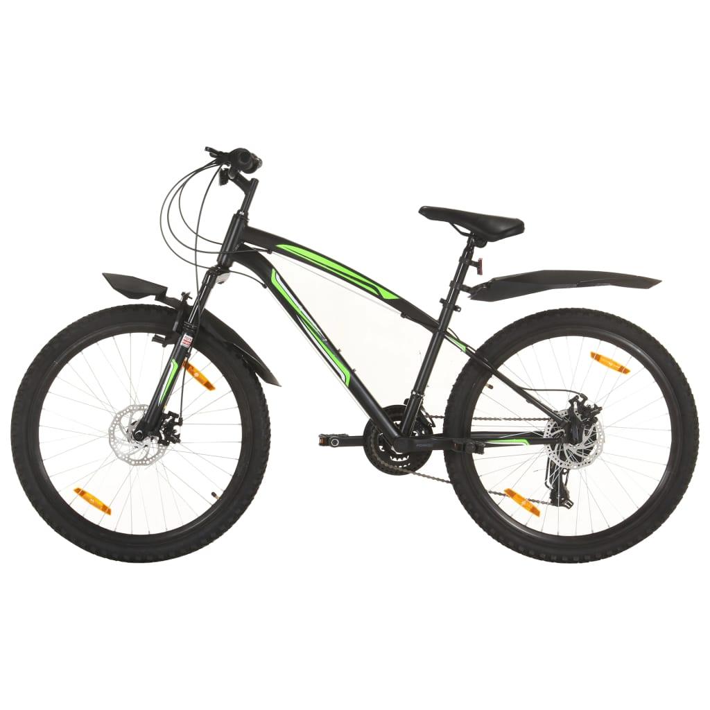 """Brdski bicikl 21 brzina kotači od 26 """" okvir od 36 cm crni"""