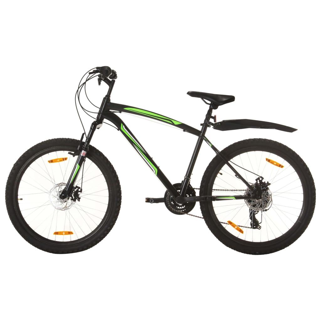"""Brdski bicikl 21 brzina kotači od 26 """" okvir od 42 cm crni"""