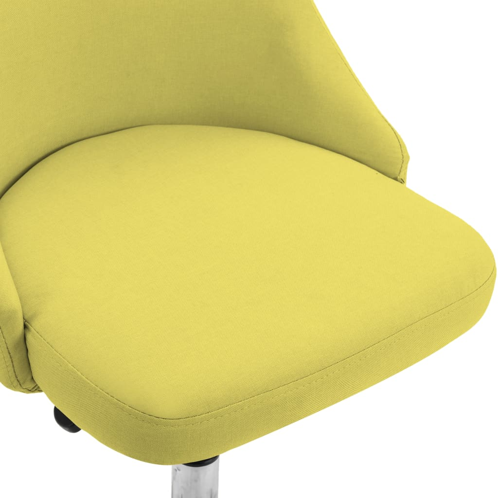 vidaXL Eetkamerstoelen 4 st stof geel
