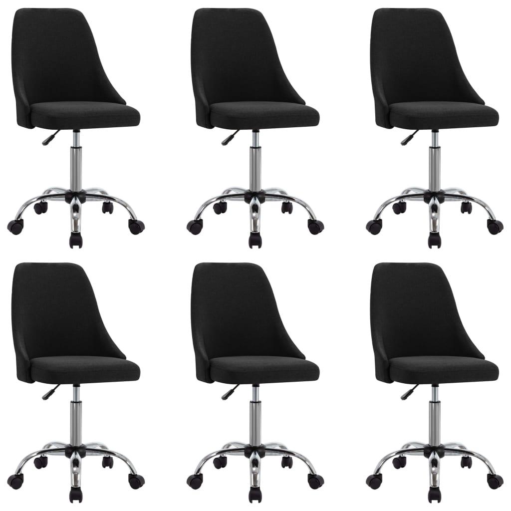 vidaXL spisebordsstole 6 stk. stof sort
