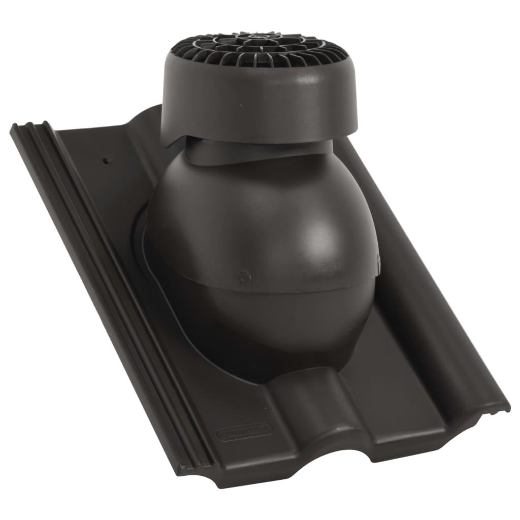 vidaXL Střešní ventilátor černý