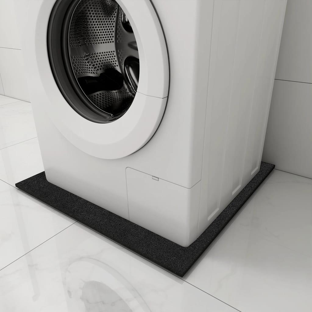 vidXL Antivibracijska podloga za perilicu rublja crna 60 x 60 x 1 cm