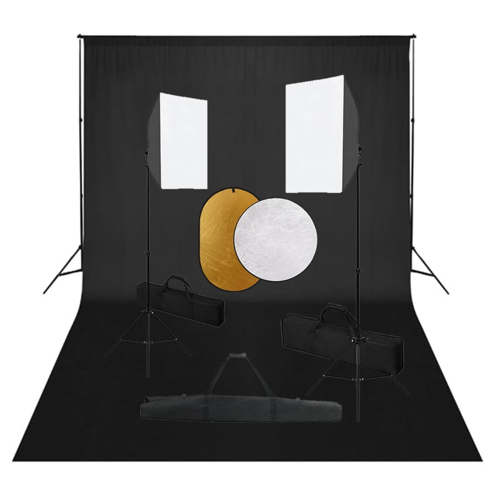 Fotografska oprema sa svjetlima, pozadinom i reflektorima