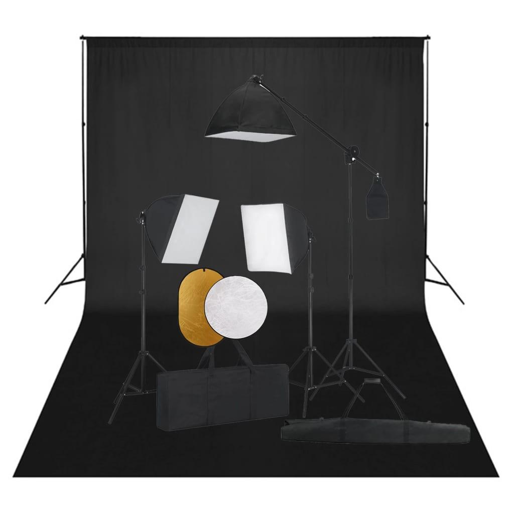 Fotografska oprema sa svjetlima, pozadinom i reflektorom