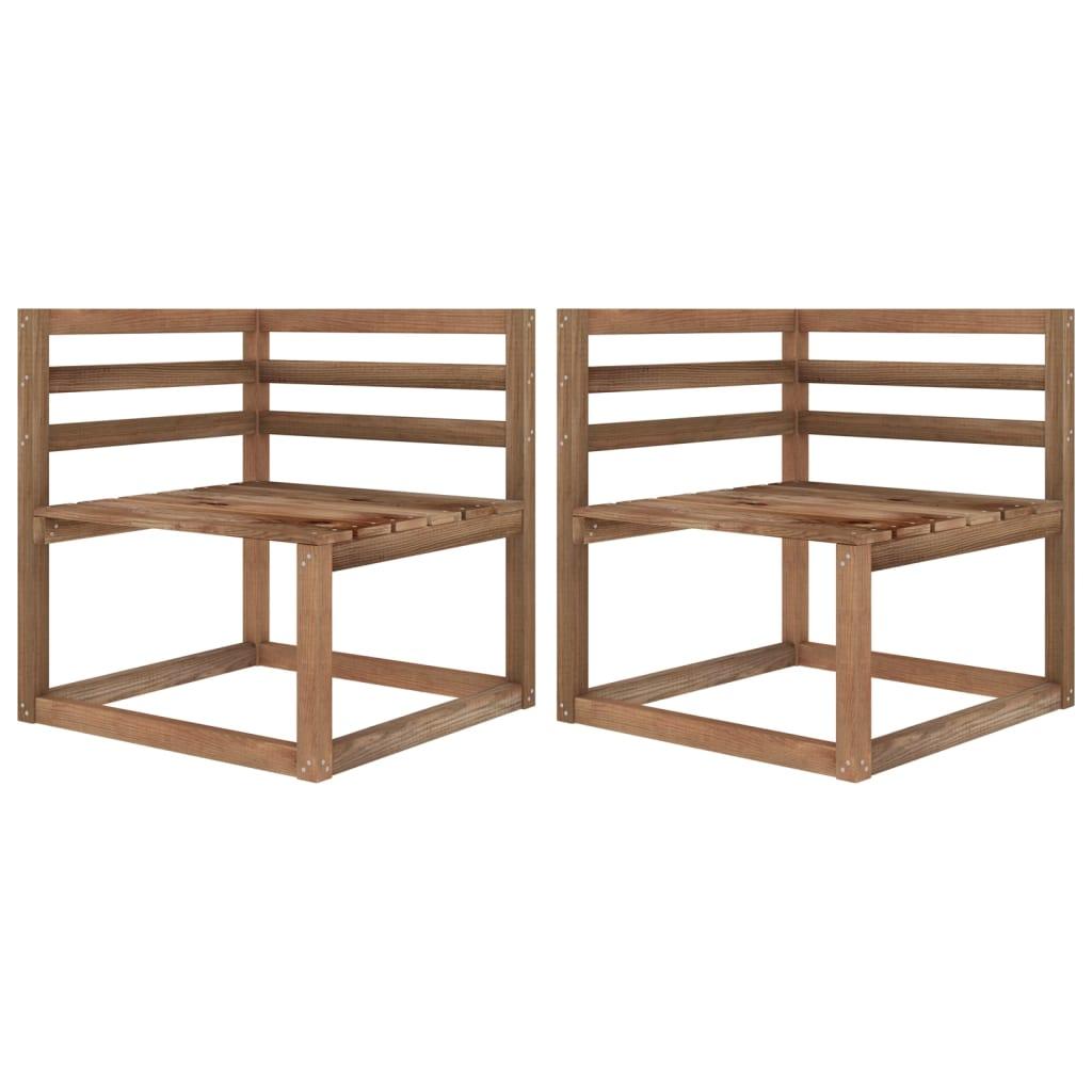 vidaXL Tuinbank 2-zits pallet met crèmewitte kussens grenenhout