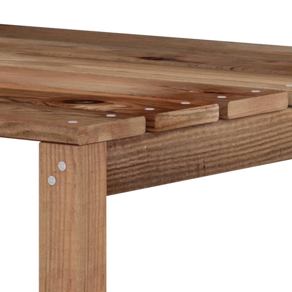 vidaXL Tuinbank 3-zits pallet met crèmewitte kussens grenenhout