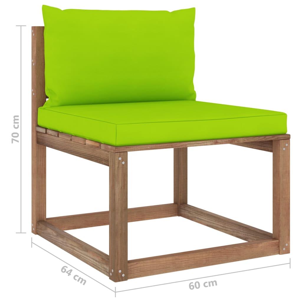 vidaXL 4-delige Loungeset pallet met kussens geïmpregneerd grenenhout