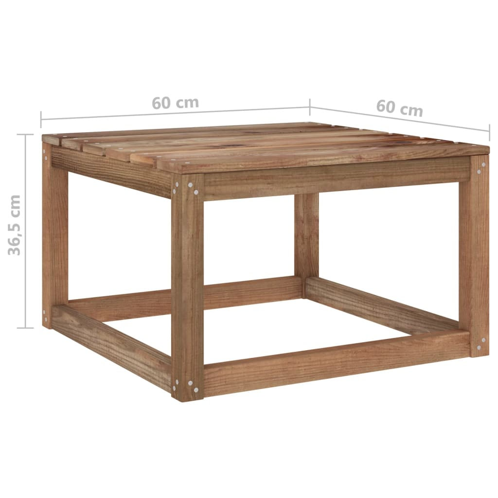 vidaXL 6-delige Loungeset pallet met kussens geïmpregneerd grenenhout