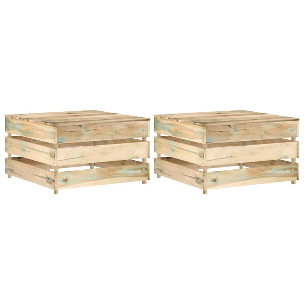 Zahradní stolky z palet 2 ks impregnované borové dřevo