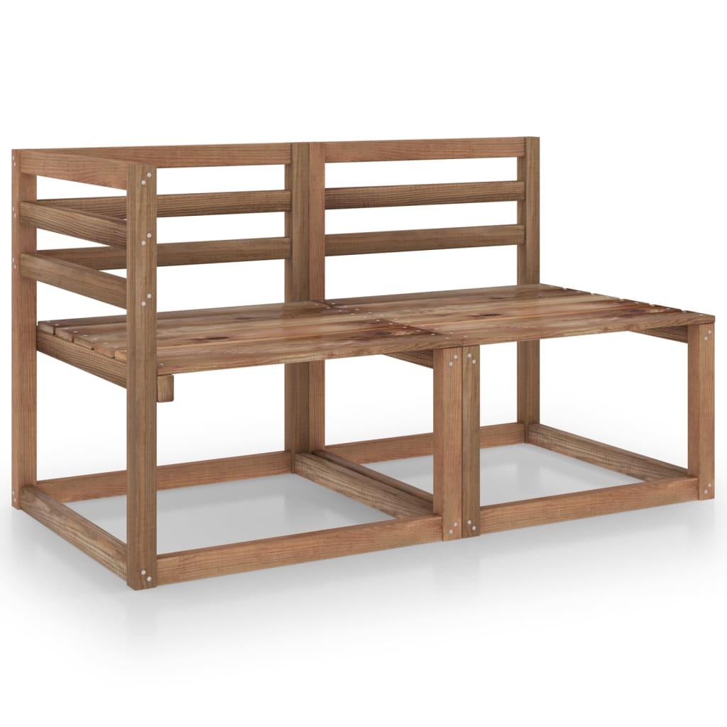 2dílná zahradní sedací souprava hnědě impregnované borové dřevo