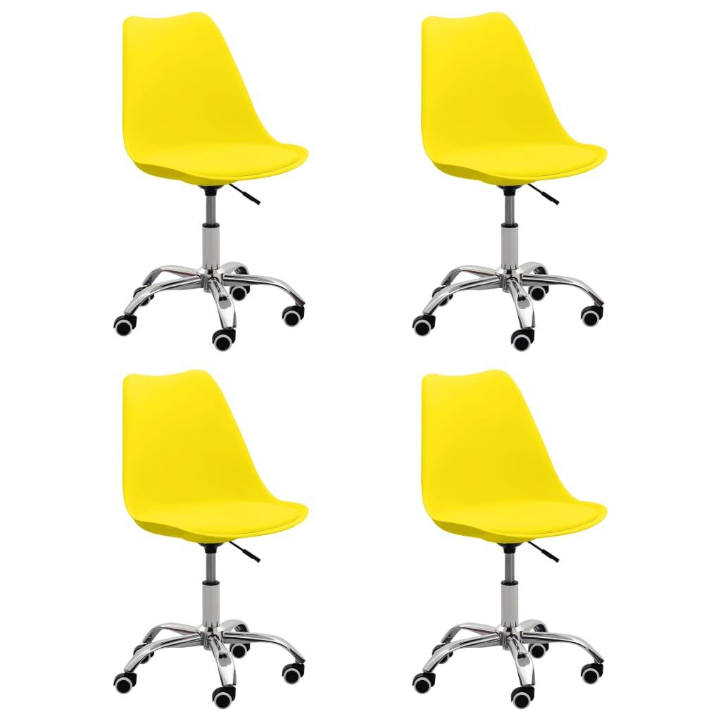 vidaXL Eetkamerstoelen 4 st kunstleer geel