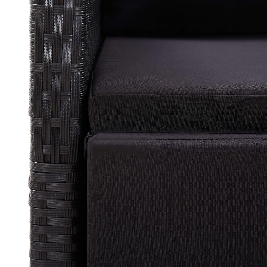 vidaXL 7-delige Tuinset zwart
