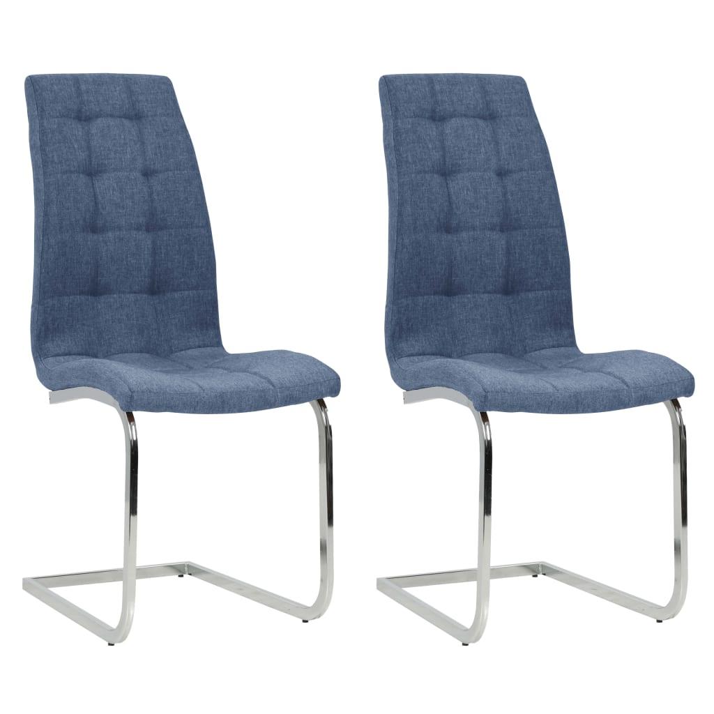 vidaXL Konzolne blagovaonske stolice od tkanine 2 kom plave