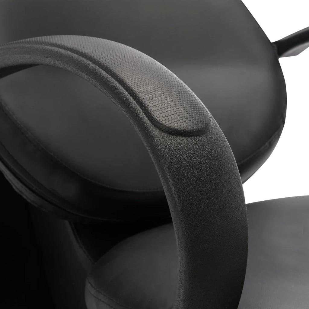 Wasstoel met waskom kunstleer zwart