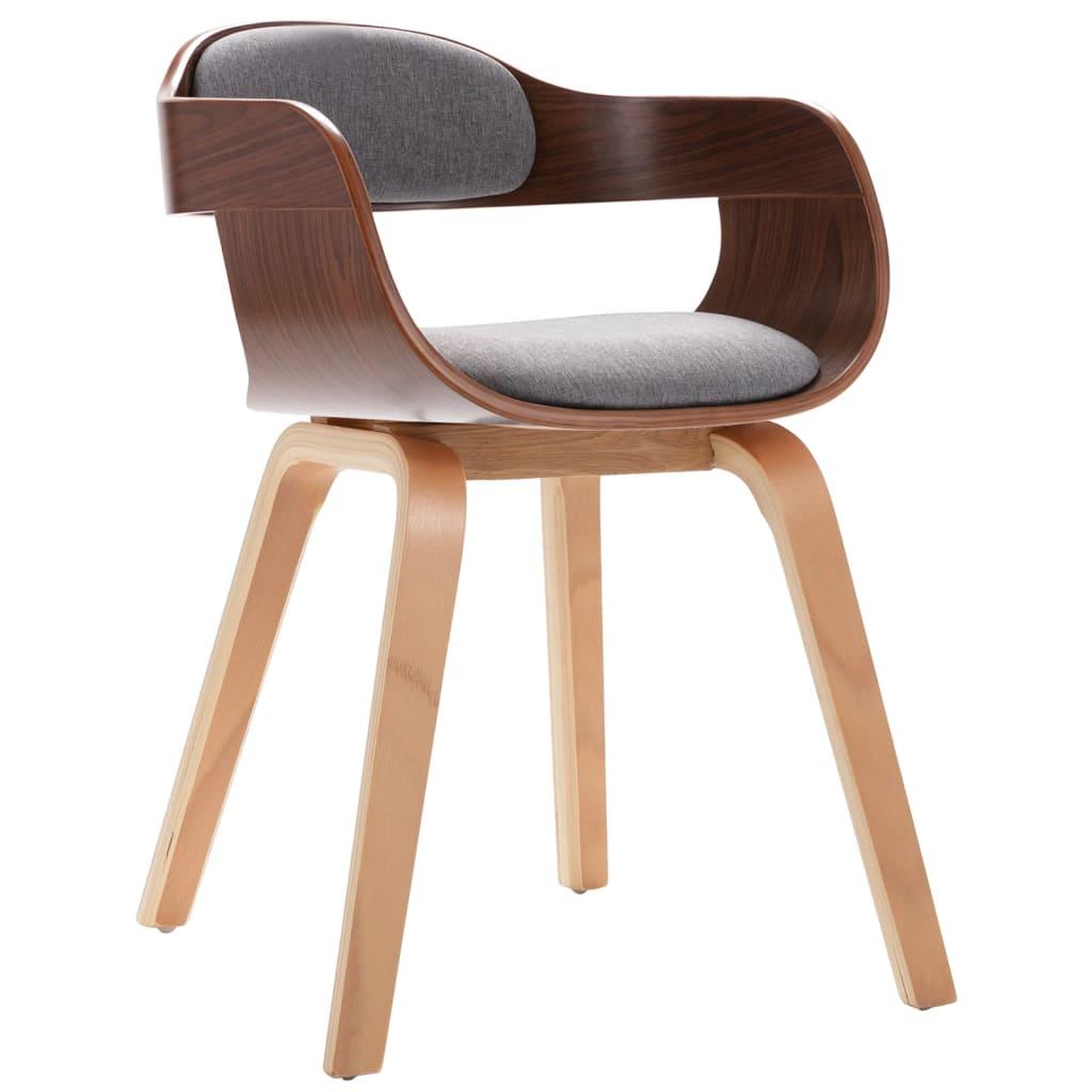 vidaXL Blagovaonska stolica svjetlosiva savijeno drvo i umjetna koža