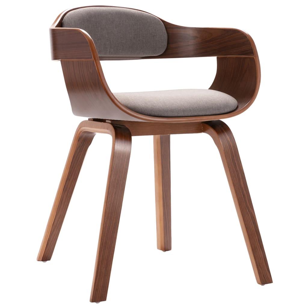 vidaXL Blagovaonska stolica smeđe-siva savijeno drvo i umjetna koža