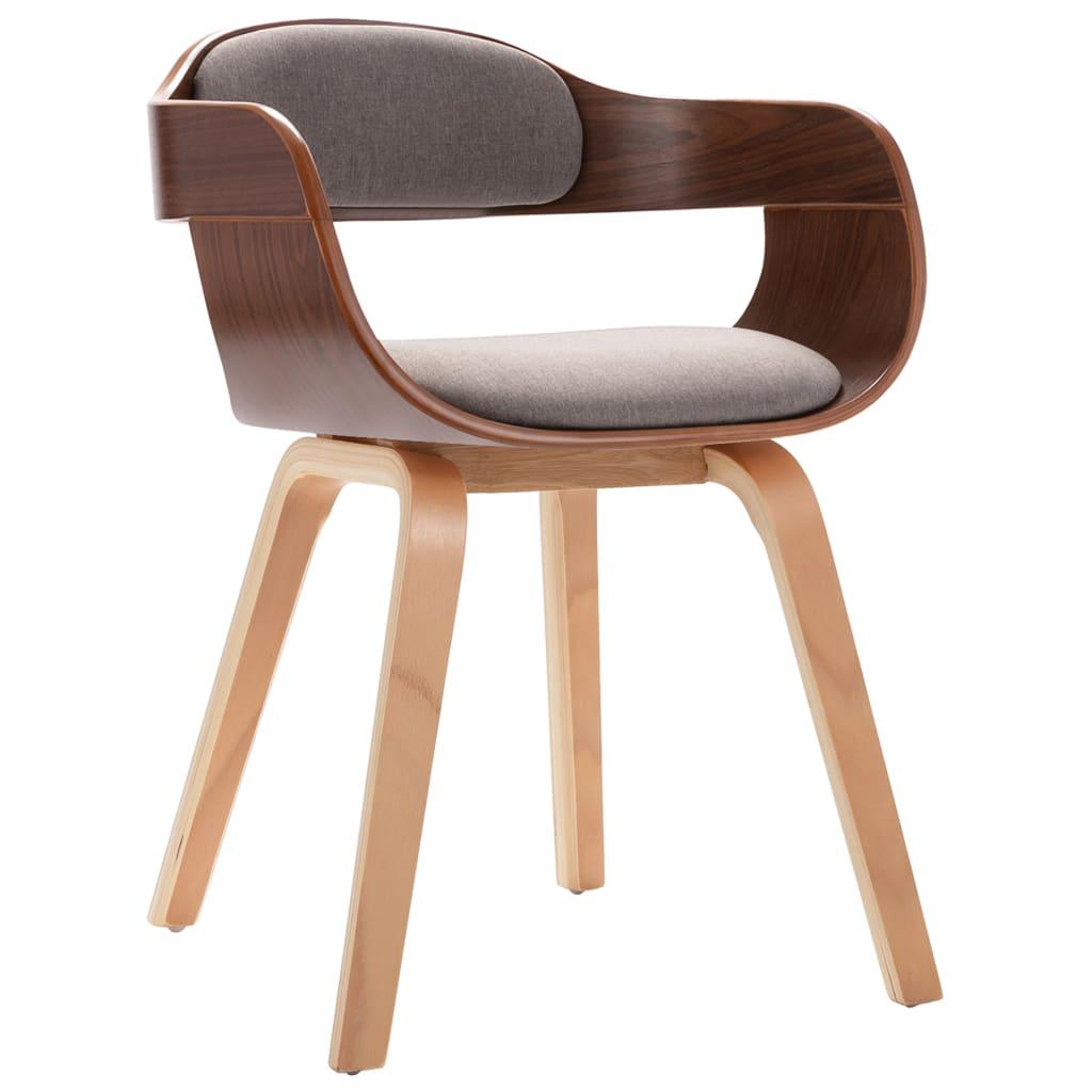 vidaXL Blagovaonska stolica smeđe-siva umjetna koža i savijeno drvo